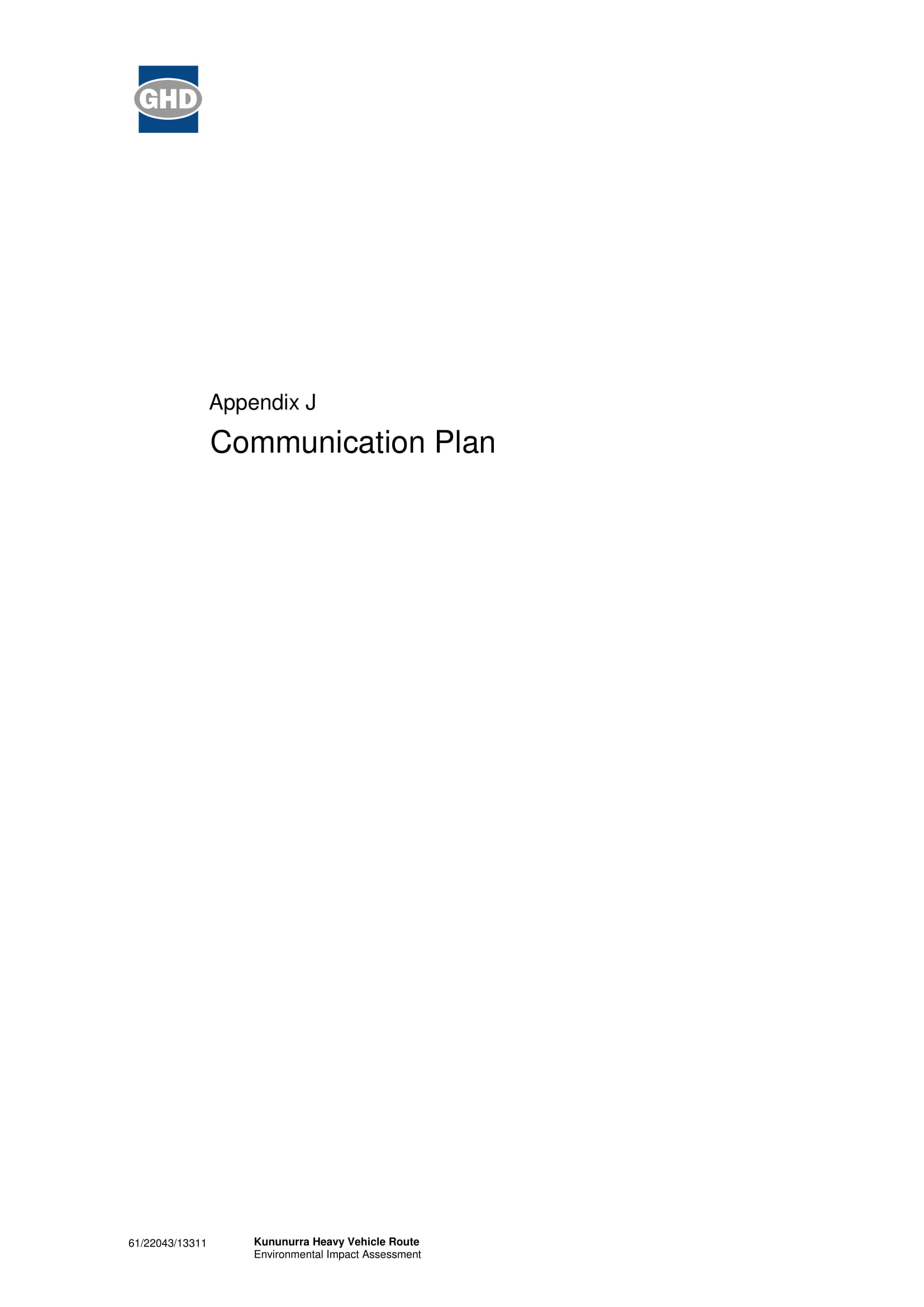 example of communication management plan