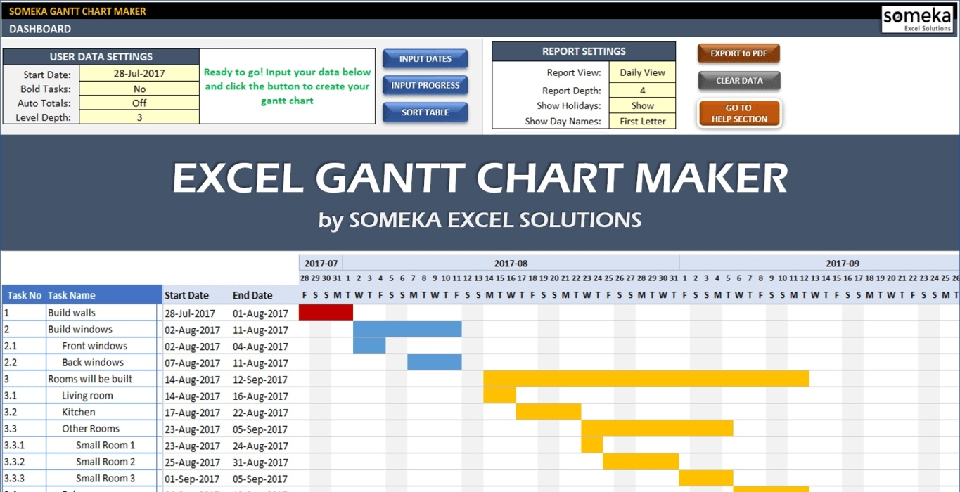 excel gantt chart maker template example