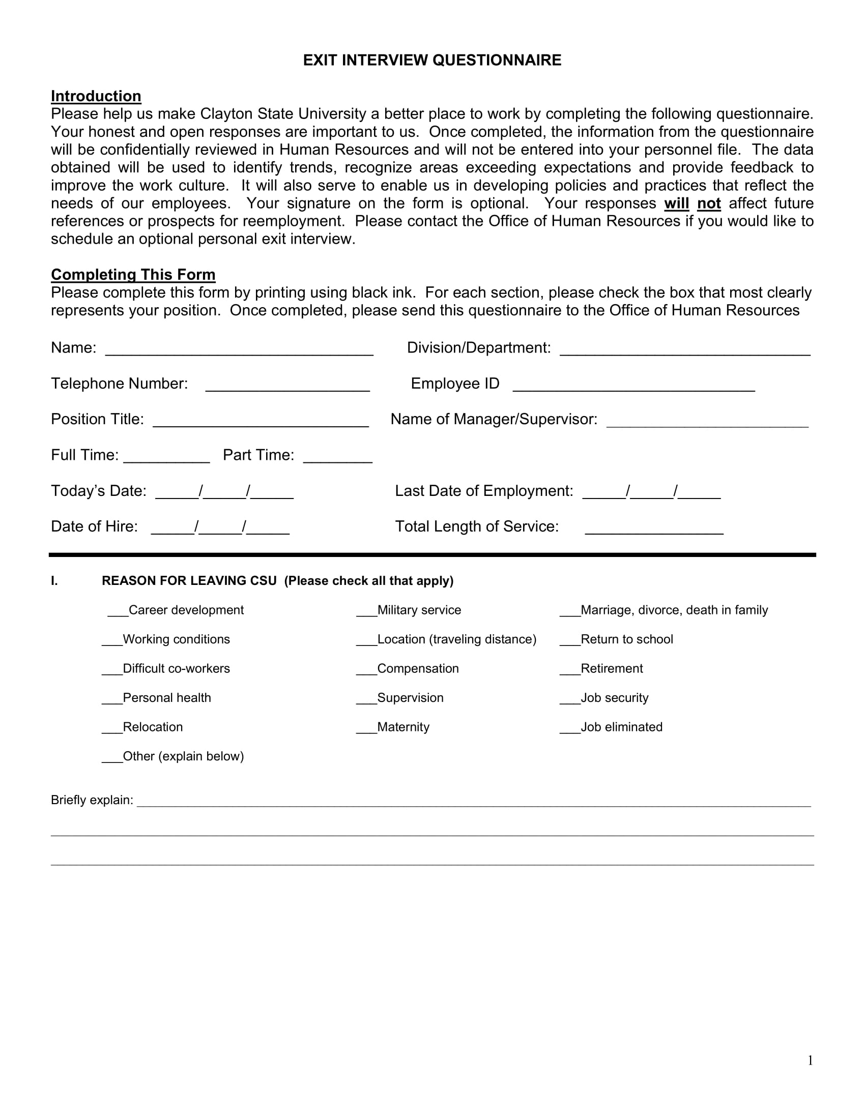 exit interview form example