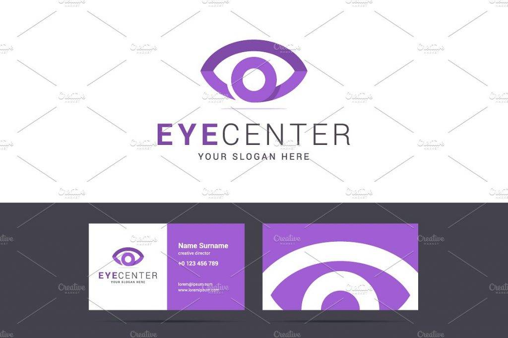 eye center card template example