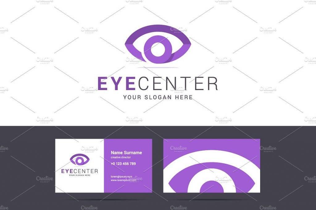 eye center card template example