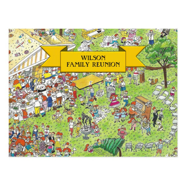 family reunion cartoon invitation example