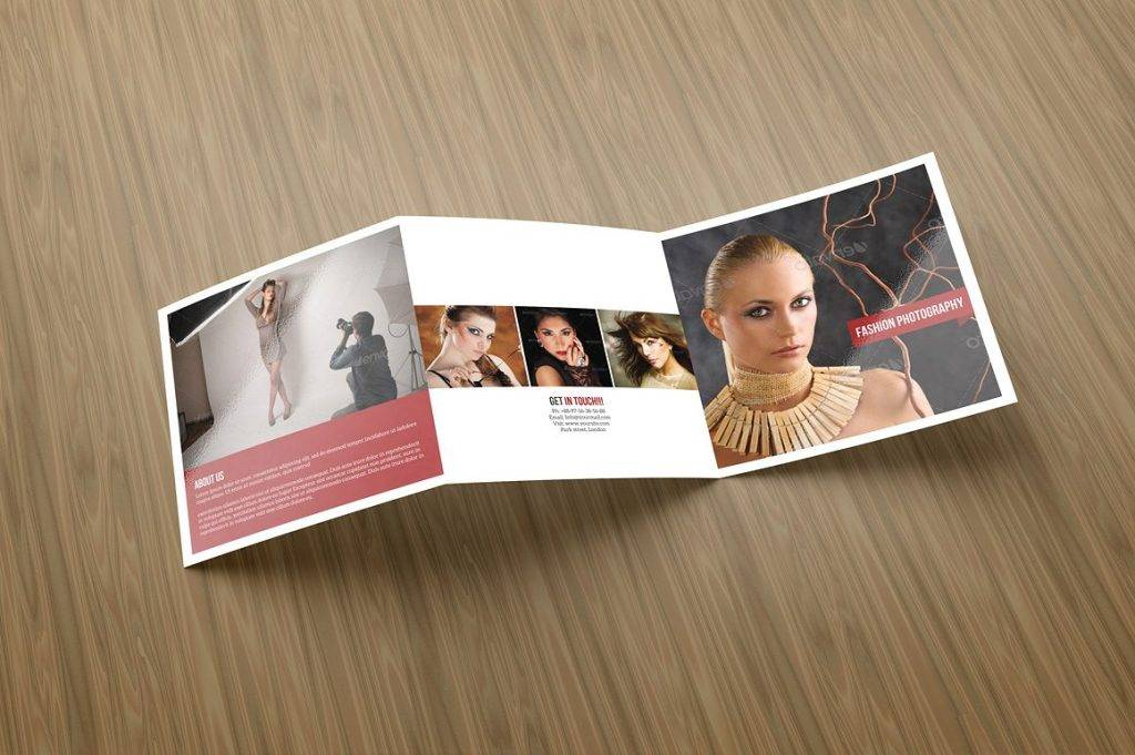 fashion trifold photography brochure example