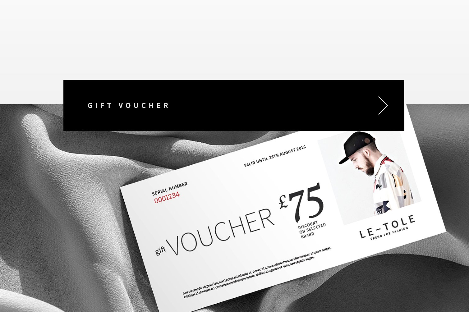 fashion voucher for spring example
