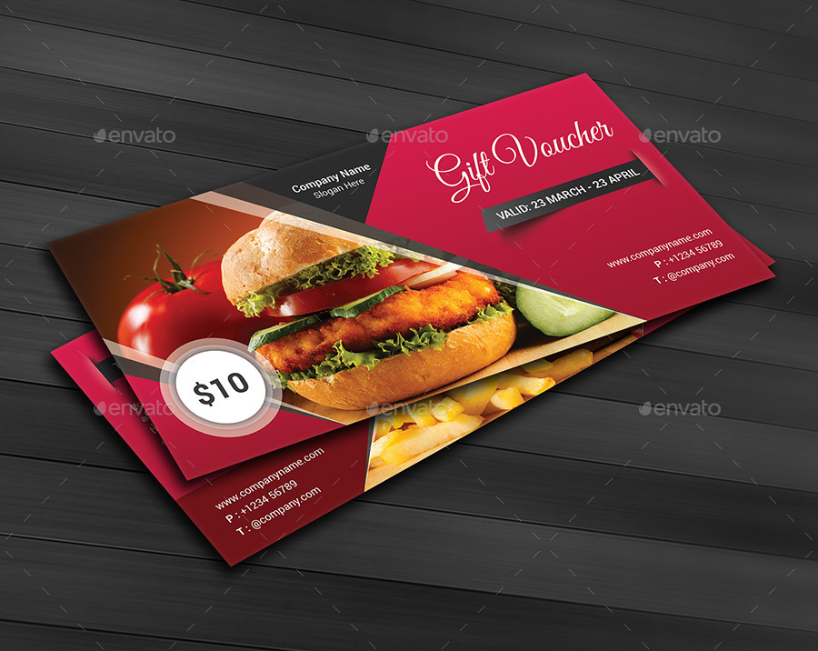 fast food cash voucher example