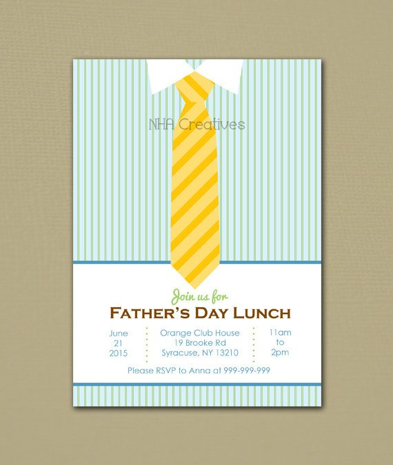father's day lunch invitation example