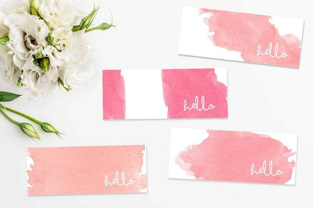 feminine mini business cards bundle