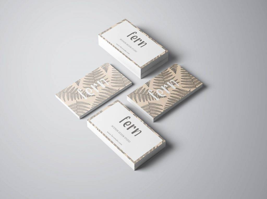 ferns business card and logo example