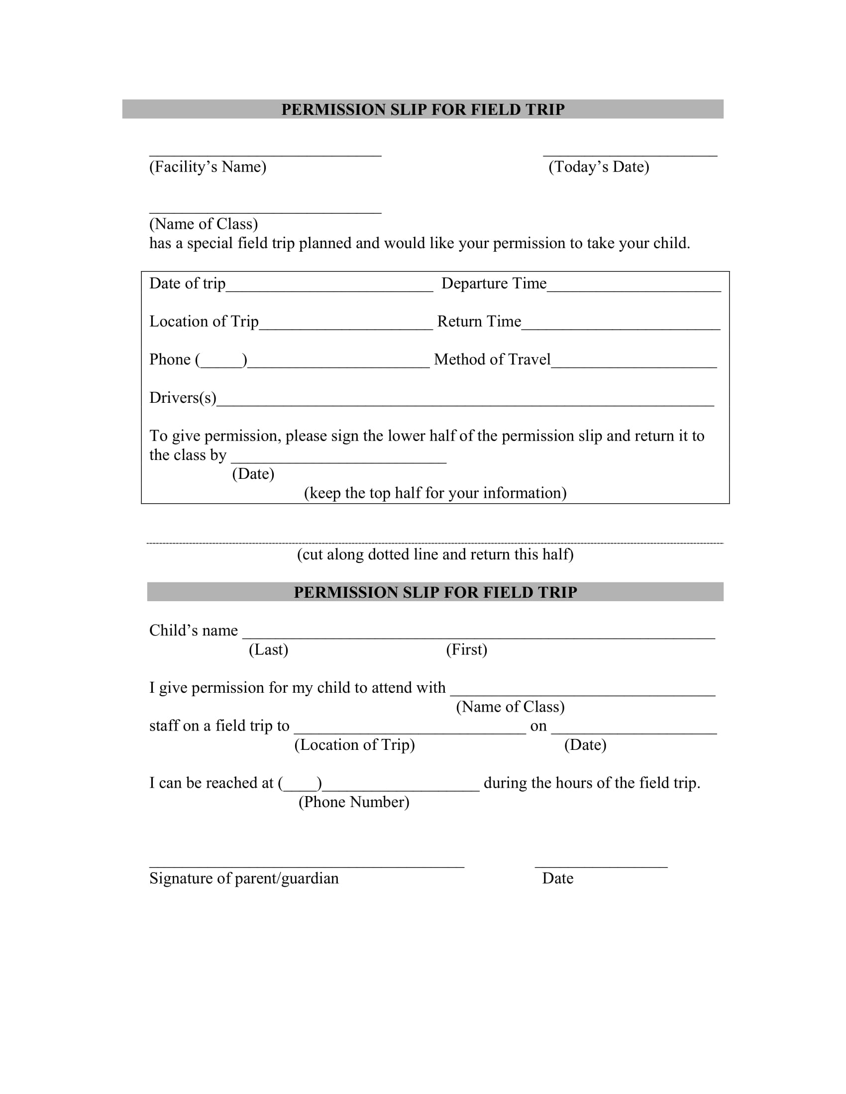 12 permission slip templates and examples pdf field trip permission slip example maxwellsz