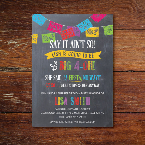 fiesta surprise party invitation example