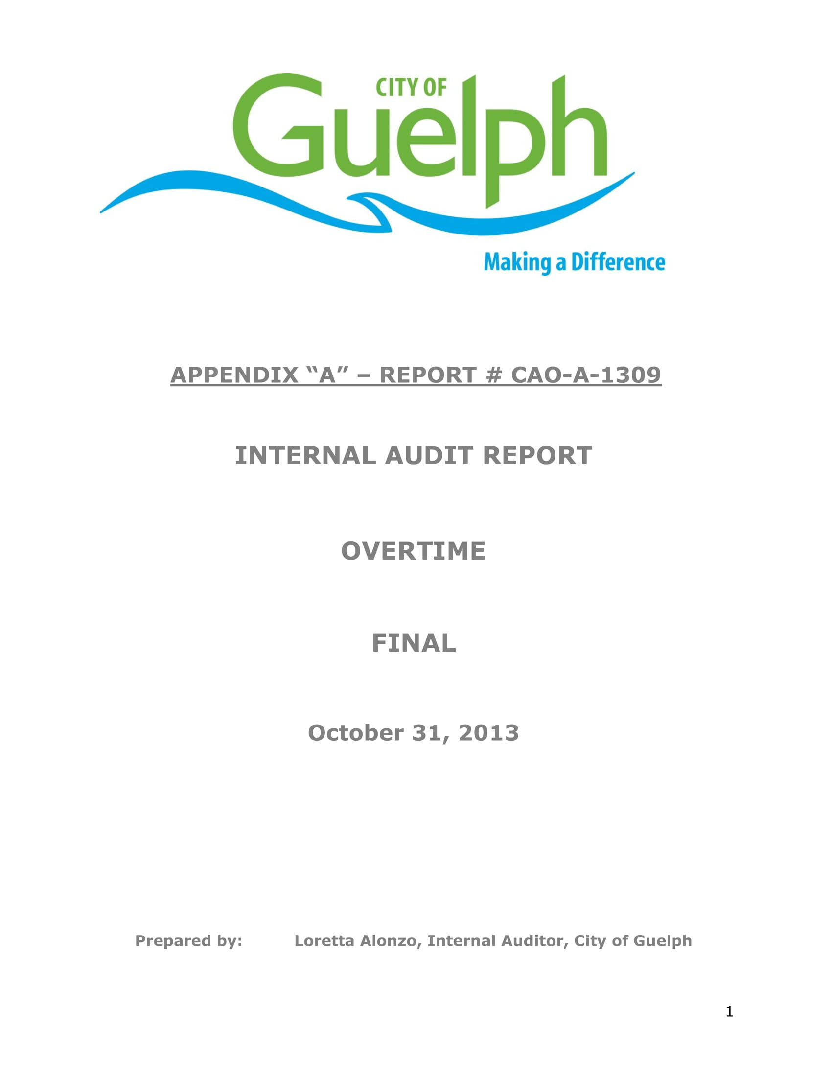 final internal audit report for overtime example