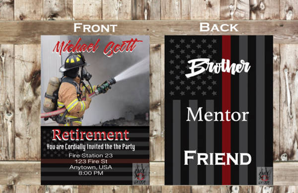 firefighter event announcement invitation example