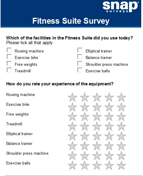10  fitness survey examples