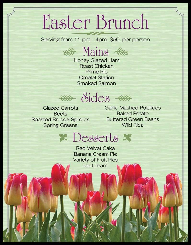 floral easter brunch menu example