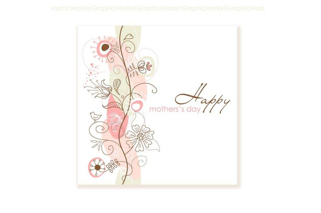 floral mothers day card example