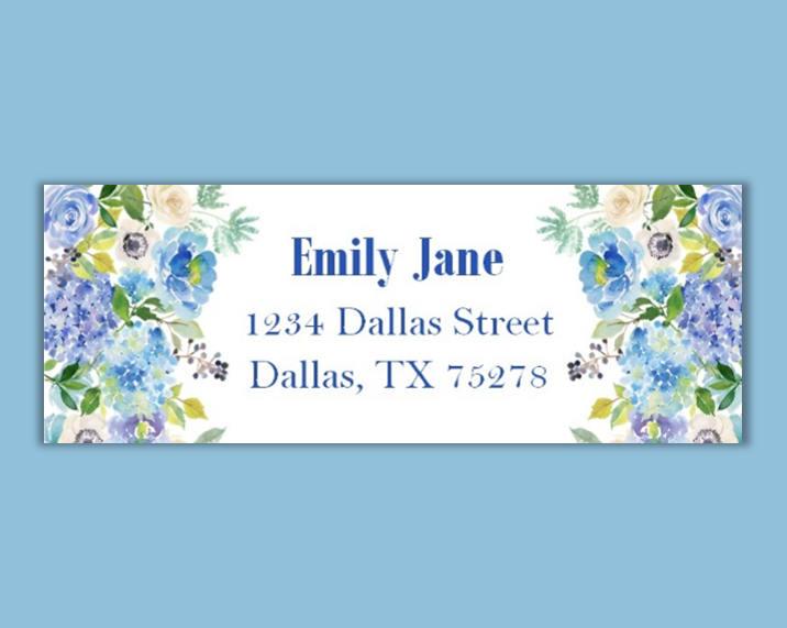 floral return address label example