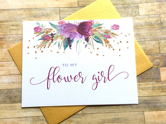flower girl thank you card example
