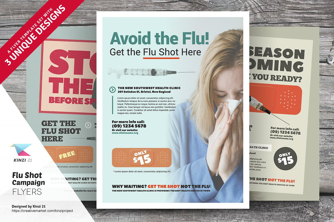 flu shot campaign poster example