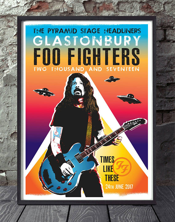 foo fighters concert poster example