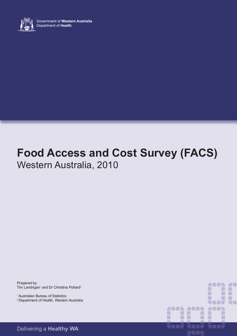 food access and cost survey example