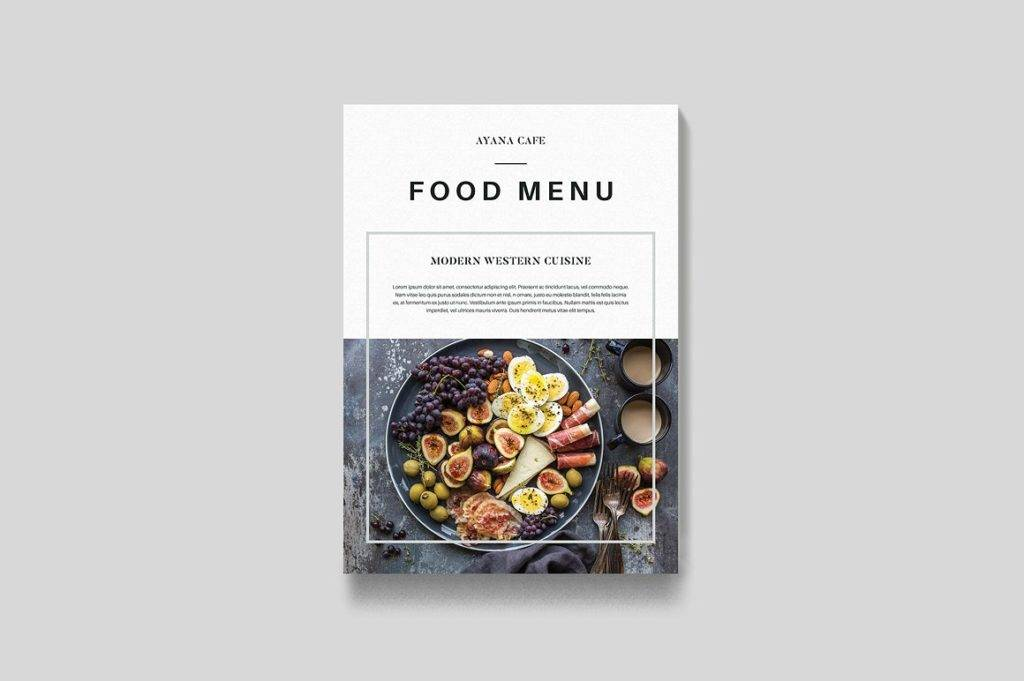 food bi fold indesign menu example 1024x681