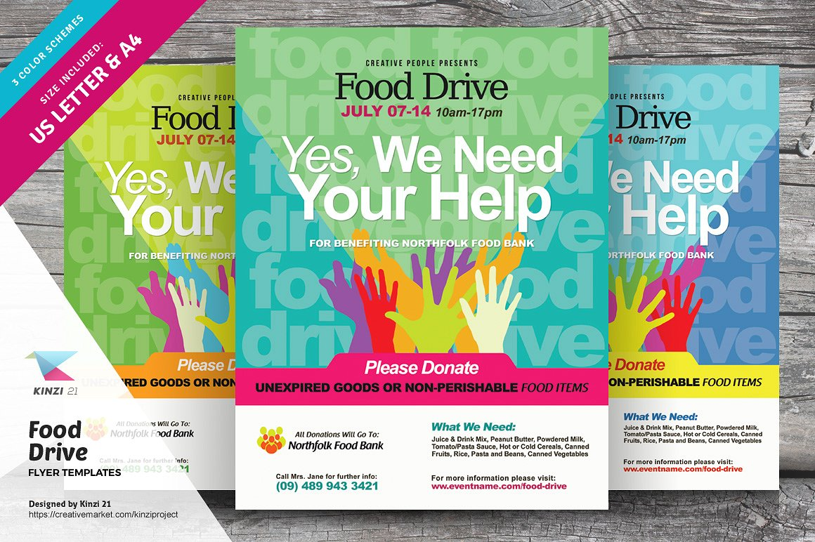 food drive campaign poster example
