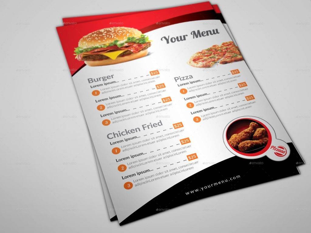 food drive through menu example