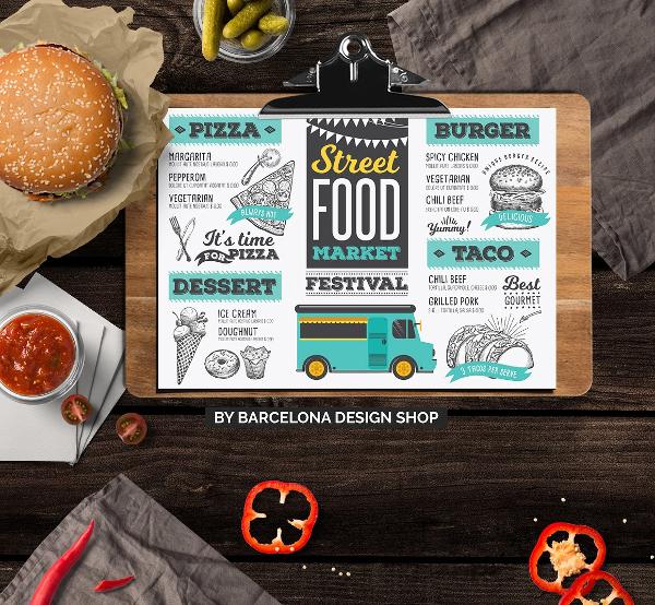 food truck baby shower menu example1
