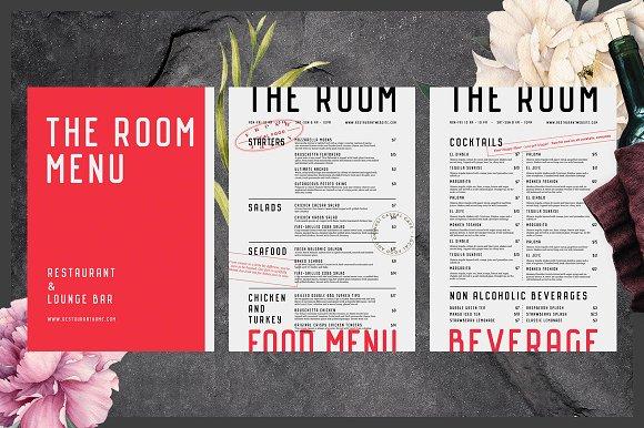 food and beverage menu example