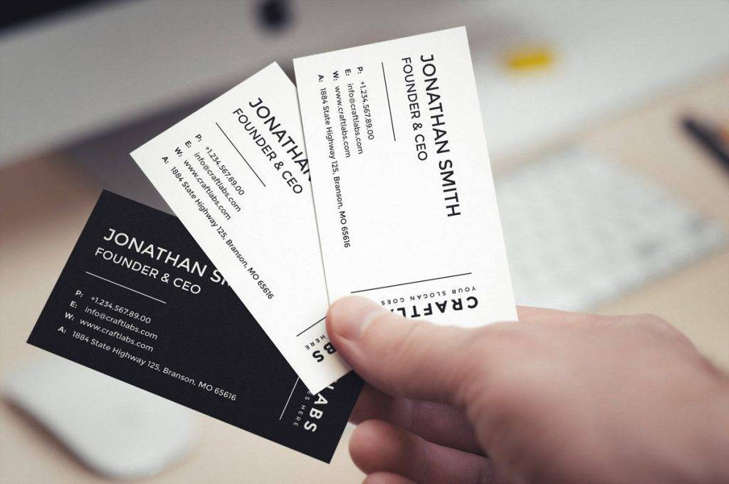 founder ceo business card design example