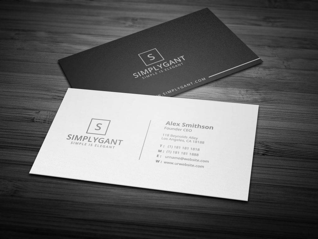 founder ceo business card example
