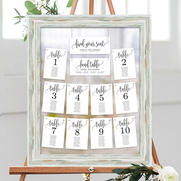 framed wedding seating chart example1