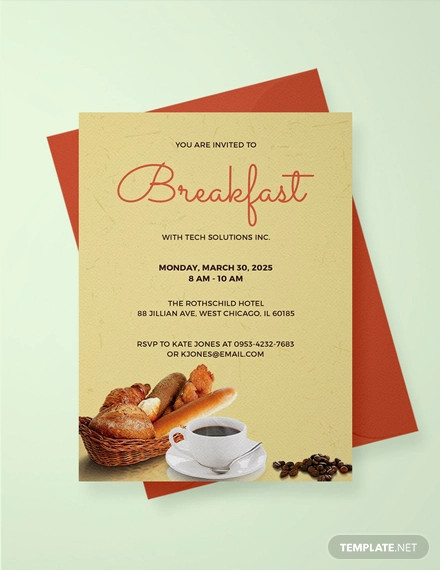 free company breakfast invitation