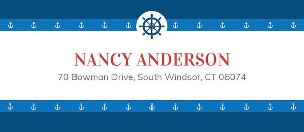 free nautical address label example