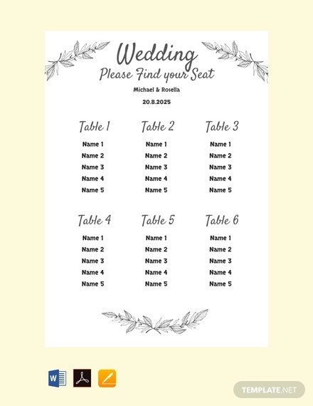 12  Seating Chart Examples  U0026 Samples In Pdf