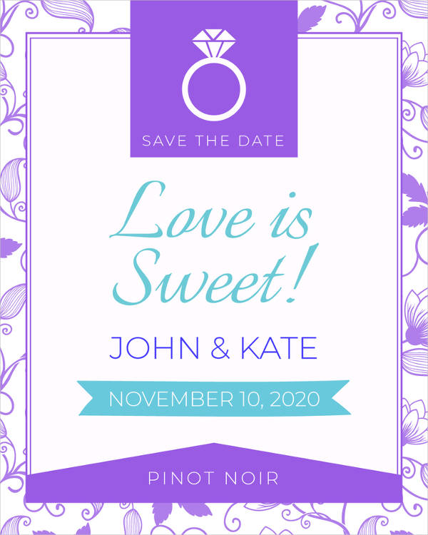 free save the date label example