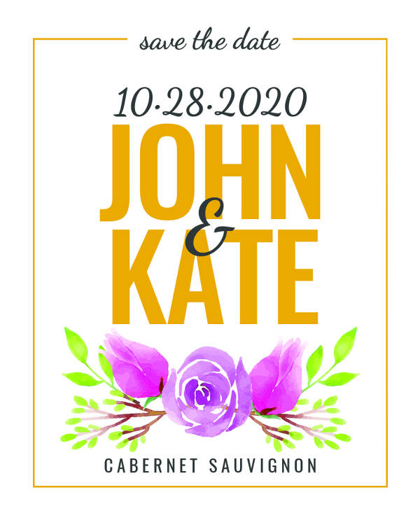 free save the date wine label example