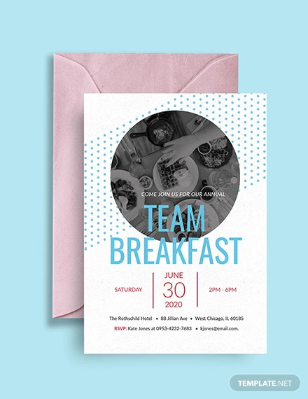 18 Breakfast Invitation Designs And Examples Psd Ai