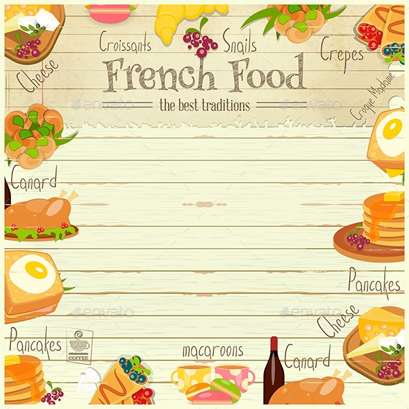 french food menu example