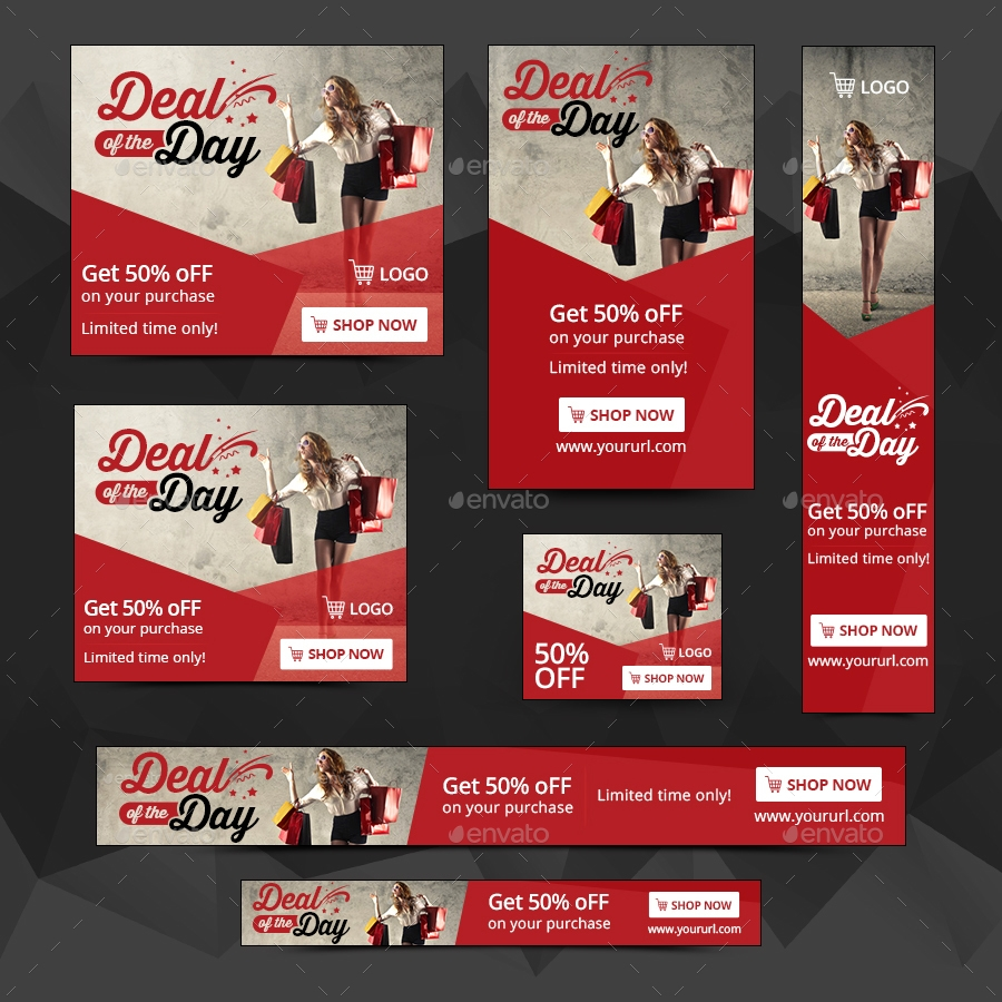 fully editable sales banner example