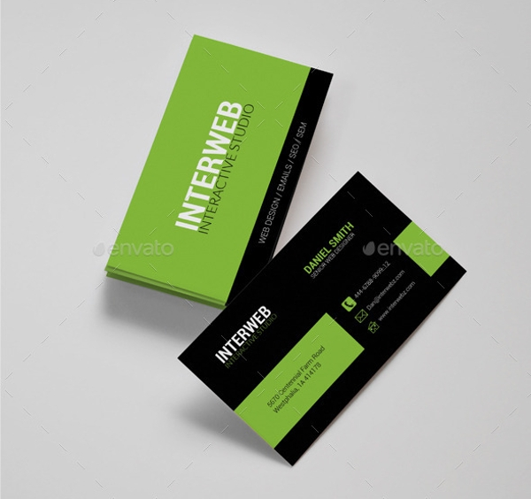 fully editable web designer business card