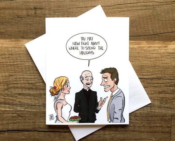 funny bridal shower card example