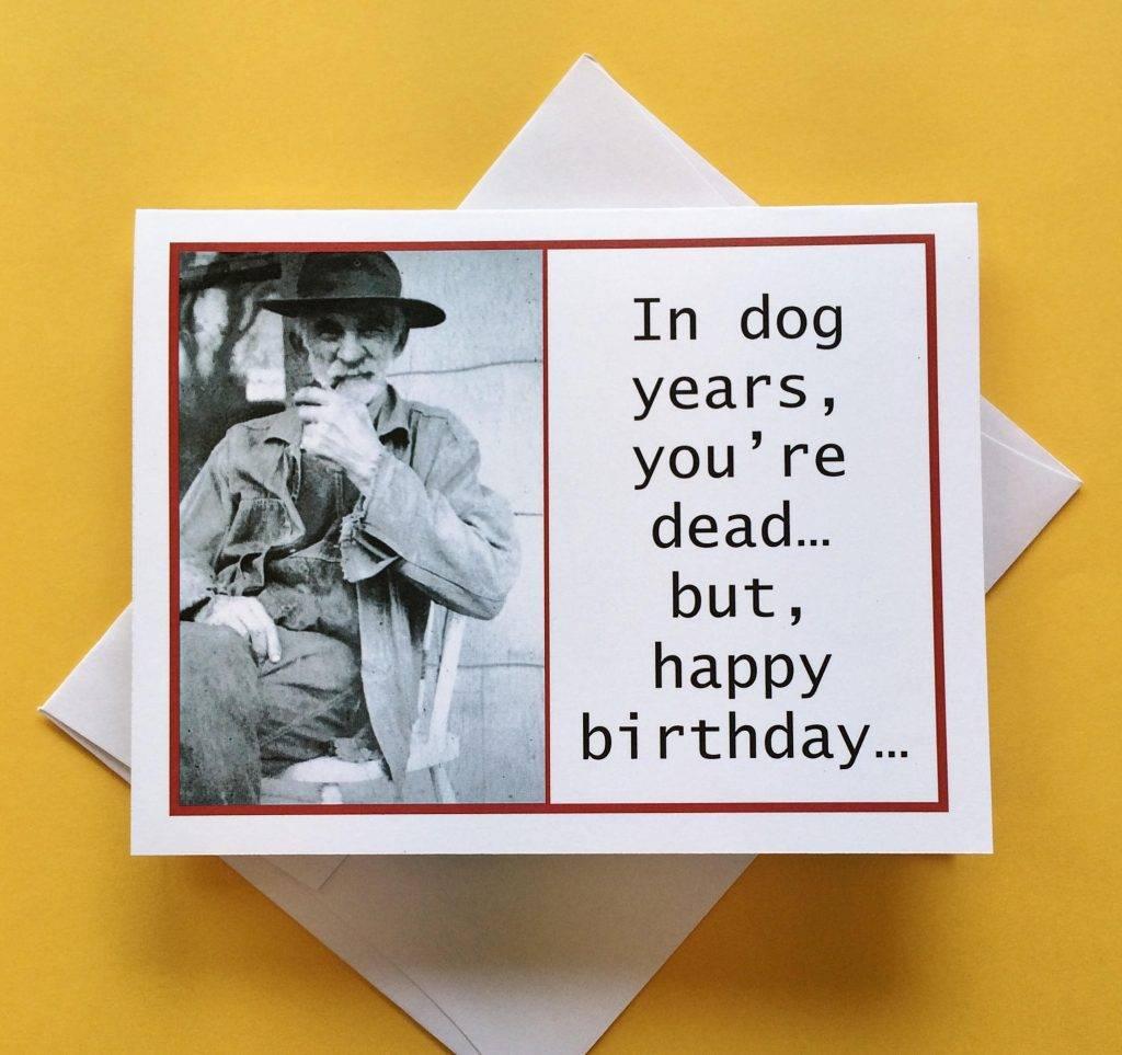 funny joke birthday photo card example