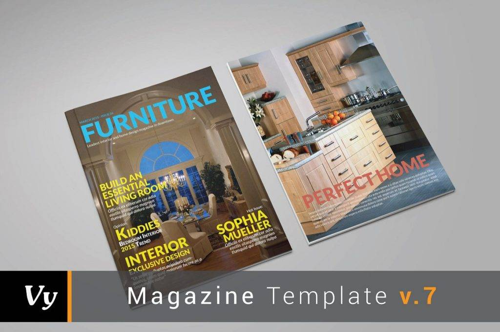 furniture magazine and brochure template example