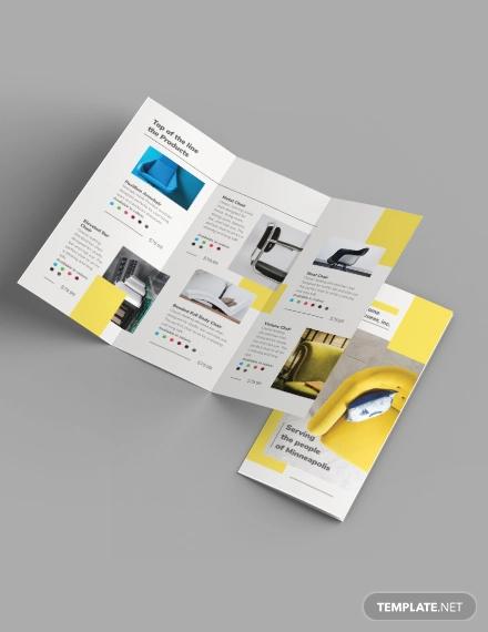 furniture store tri fold brochure template