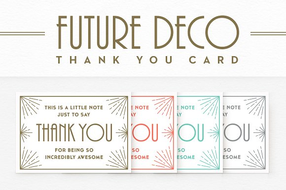 futuredeco thank you card example
