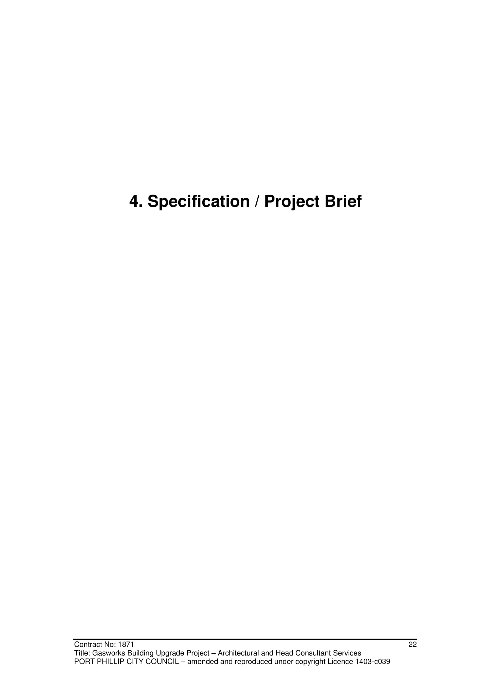 gasworks building upgrade project brief example