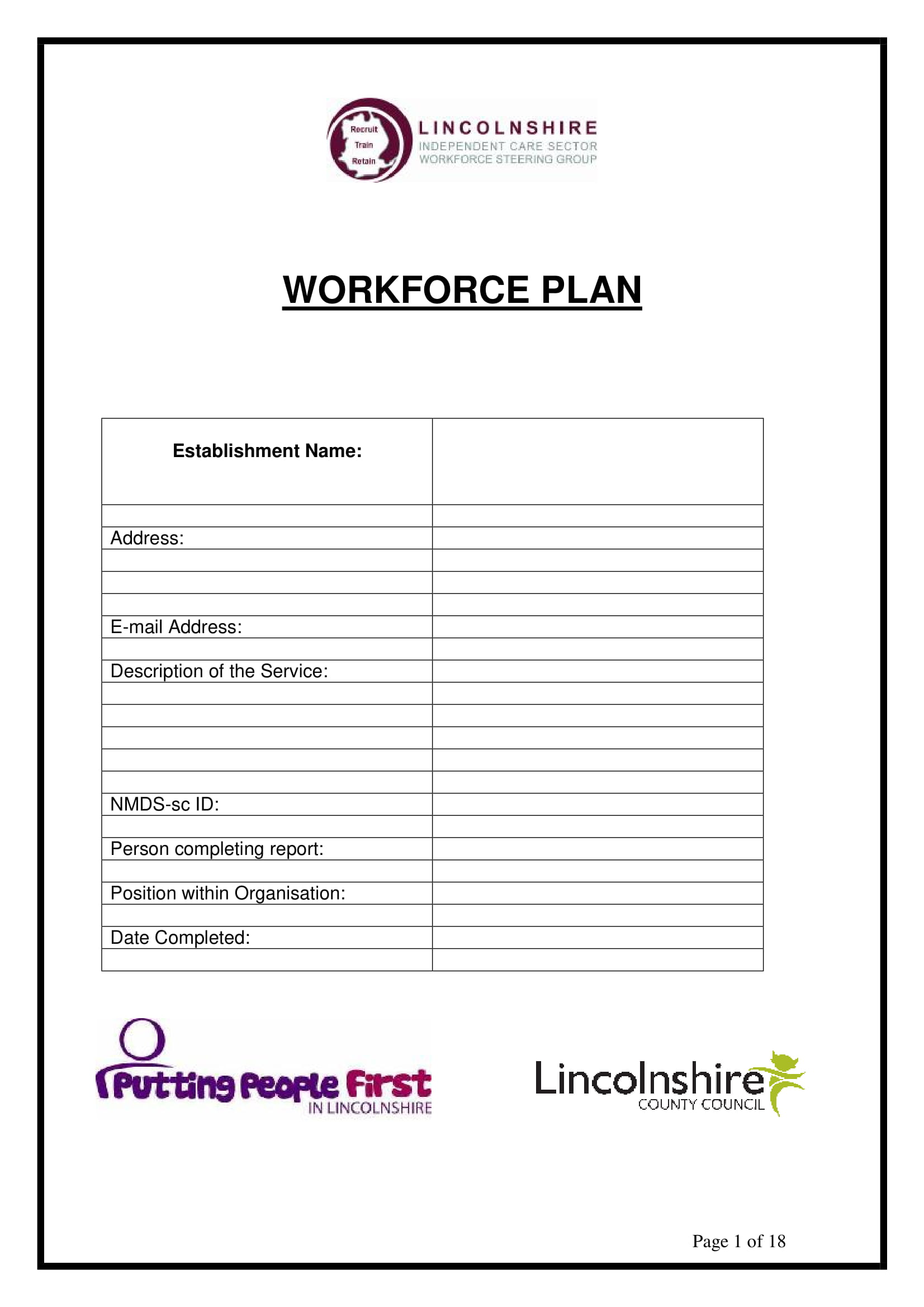 generic workforce plan template example