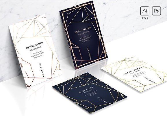 geometric personal business card example e1527038781861
