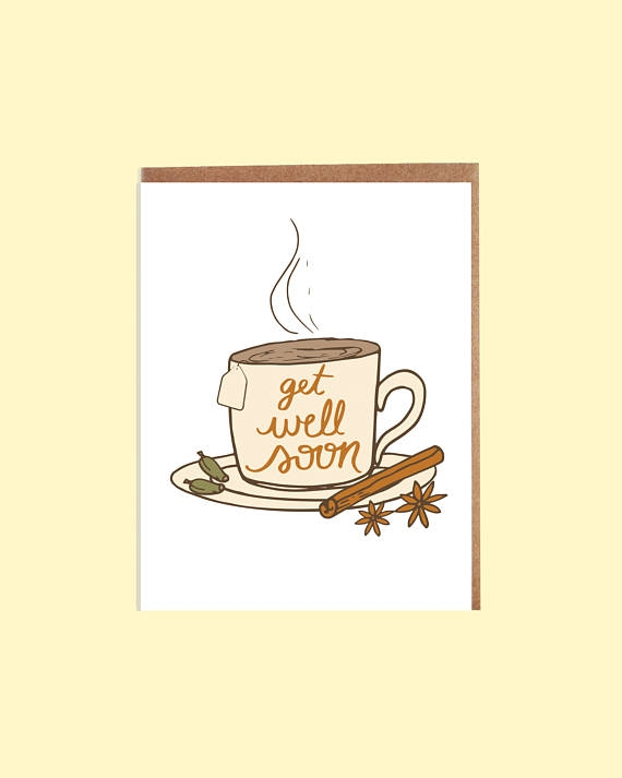 get well cup of tea greeting card example